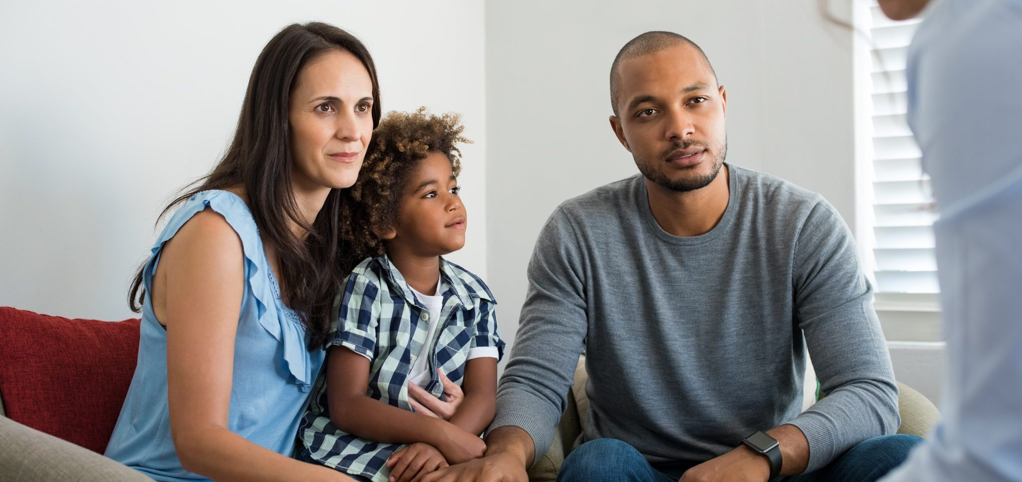 Mixed race family in counselling