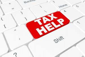 Tax Help button on on a computer keyboard.