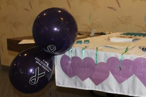 WEAAD purple hearts created by the students
