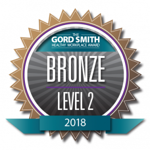 Bronze Level 2 Winner - Healthy Workplace 2018 Award