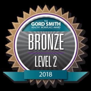 Gagnant du 2e niveau bronze – Environnement de travail sain 2018