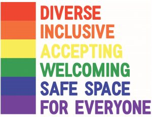Positive Space Designation - Diverse, Inclusive, Accepting, Welcoming, Safe Space for Everyone