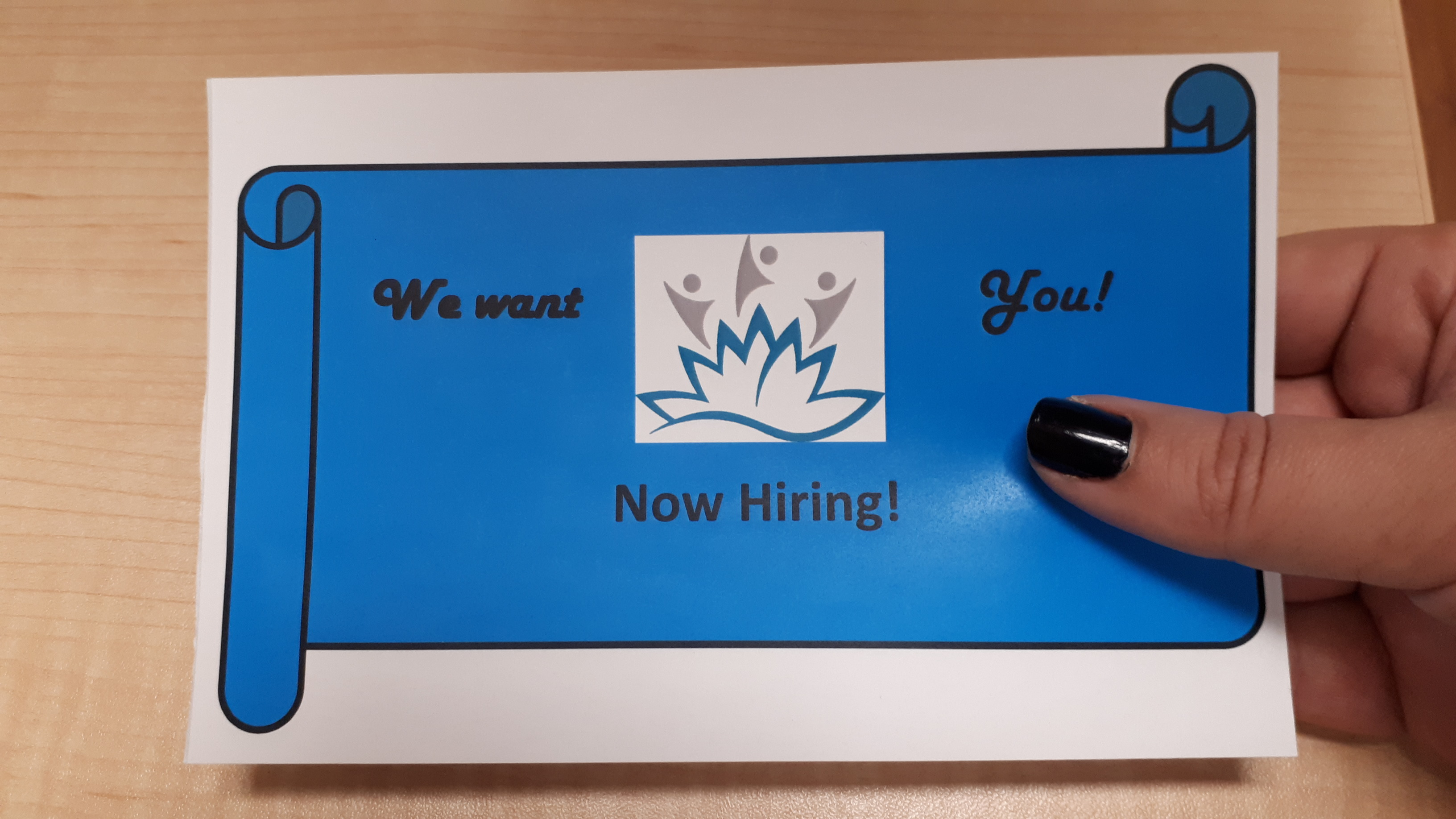 Now Hiring - We want You!