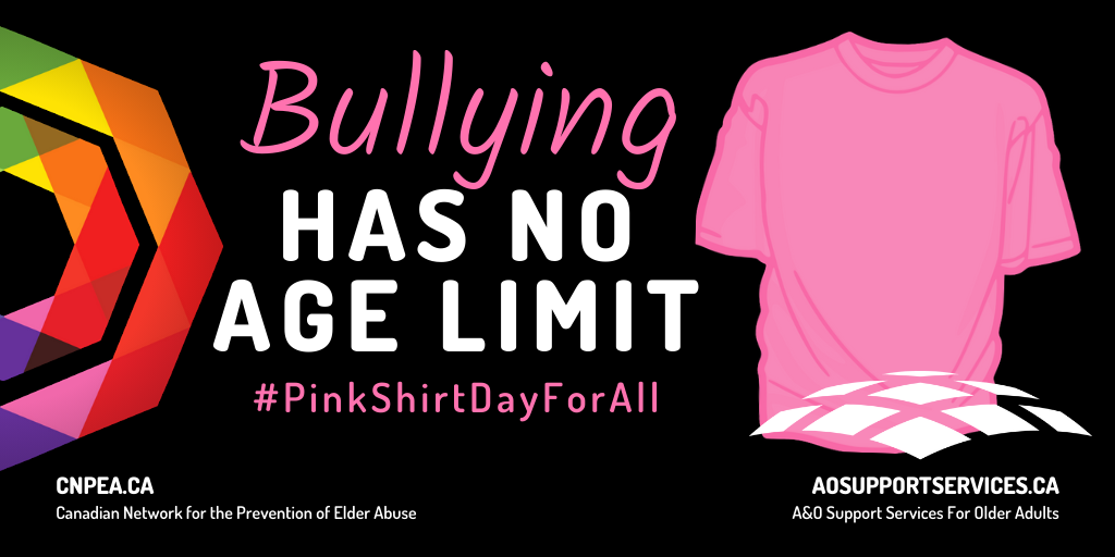 Bullying Has No Age Limit - #PinkShirtDayForAll with a Pink Shirt picture